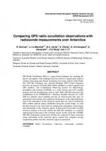 Comparing GPS radio occultation observations with ...