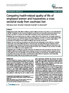 Comparing health-related quality of life of employed women and ...