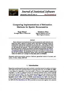 Comparing Implementations of Estimation Methods for Spatial ...