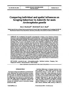 Comparing individual and spatial influences on foraging behaviour in ...