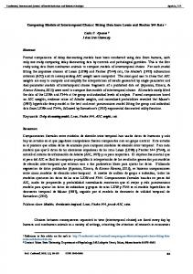 Comparing Models of Intertemporal Choice: Fitting Data ... - CiteSeerX