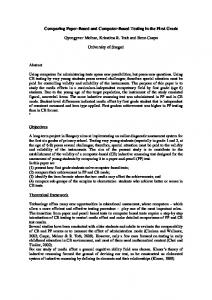 Comparing Paper-Based and Computer-Based