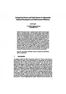 Comparing Private and Public Sector on