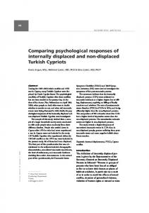 Comparing psychological responses of internally displaced and non ...