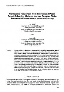 Comparing Responses from Internet and Paper-Based Collection ...