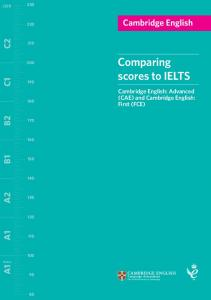 Comparing scores on Cambridge English: Advanced (CAE) and IELTS