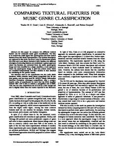 comparing textural features for music genre classification