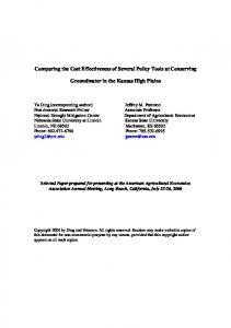 Comparing the Cost Effectiveness of Several Policy ... - AgEcon Search