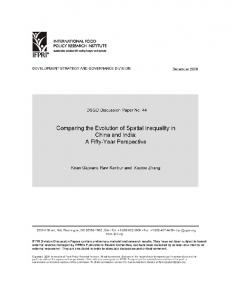 Comparing the Evolution of Spatial Inequality in ... - AgEcon Search