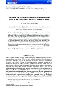 Comparing the performance of multiple ... - Project Penguin