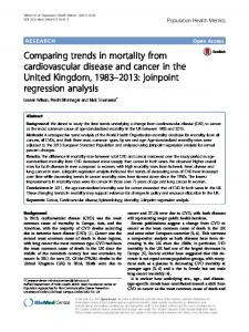 Comparing trends in mortality from cardiovascular disease and cancer ...