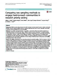 Comparing two sampling methods to engage hard ... - Semantic Scholar