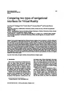 Comparing two types of navigational interfaces for ... - Semantic Scholar