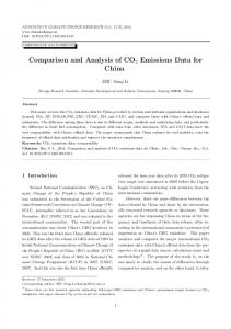 Comparison and Analysis of CO2 Emissions Data for China