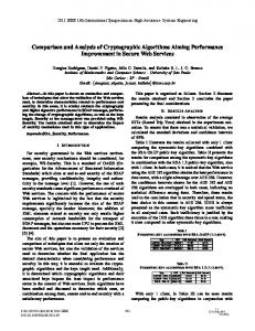 Comparison and Analysis of Cryptographic Algorithms Aiming ...