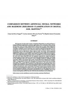 COMPARISON BETWEEN ARTIFICIAL NEURAL NETWORKS AND