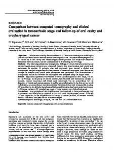 Comparison between computed tomography and ... - BIR Publications