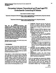 Comparison between Conventional and Fuzzy Logic PID Controllers ...