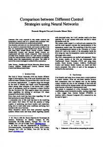 Comparison between Different Control Strategies using Neural Networks