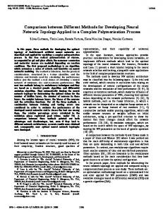 Comparison between Different Methods for Developing Neural