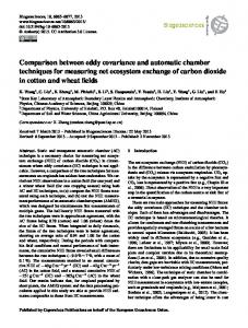 Comparison between eddy covariance and automatic chamber ...