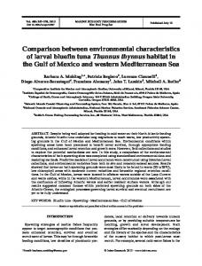Comparison between environmental characteristics of larval bluefin ...
