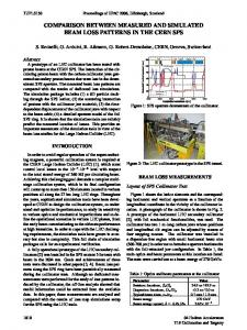 Comparison between Measured and Simulated Beam Loss ... - CERN
