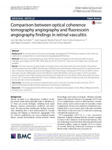 Comparison between optical coherence tomography angiography and ...