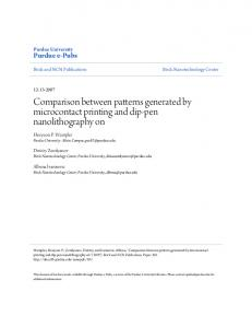 Comparison between patterns generated by ...