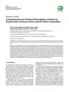 Comparison between Peritoneal Macrophage Activation by ...