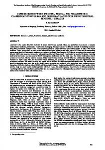 comparison between spectral, spatial and ... - ISPRS Archives