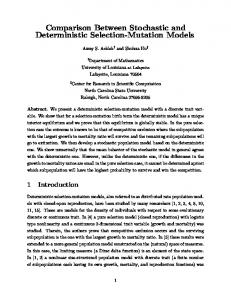 Comparison Between Stochastic and Deterministic ... - Semantic Scholar