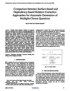Comparison between Surface-based and Dependency-based ...