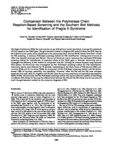 Comparison Between the Polymerase Chain Reaction-Based ...