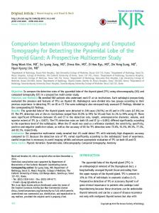 Comparison between Ultrasonography and Computed Tomography ...