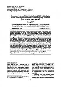 Comparison between Water Quality Index (WQI) and ... - Pollution