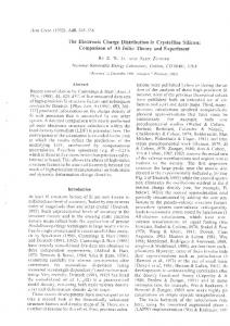 Comparison of Ab Initio Theory and Experiment - University of ...