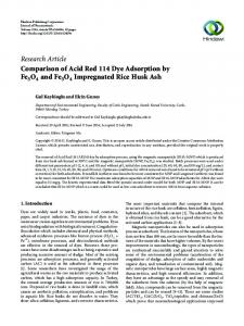 Comparison of Acid Red 114 Dye Adsorption by Fe3O4 and Fe3O4 ...