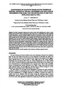 Comparison of adaptive neuro-fuzzy inference system, artificial neural ...