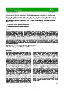 Comparison of adaptive strategies of alfalfa (Medicago sativa L.) to