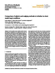 Comparison of adjoint and nudging methods to ... - Geosci. Model Dev.