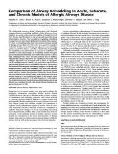 Comparison of Airway Remodeling in Acute, Subacute ... - ATS Journals