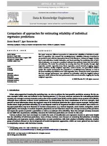 Comparison of approaches for estimating reliability of individual ...
