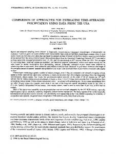 comparison of approaches for estimating time ... - Semantic Scholar