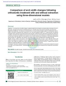 Comparison of arch width changes following orthodontic treatment