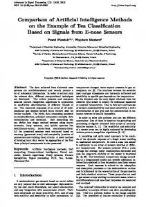 Comparison of Artificial Intelligence Methods on the Example of Tea ...