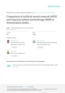 Comparison of artificial neural network (ANN) and
