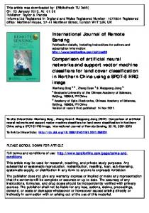 Comparison of artificial neural networks and support ...