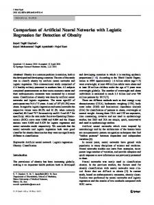 Comparison of Artificial Neural Networks with ... - Semantic Scholar