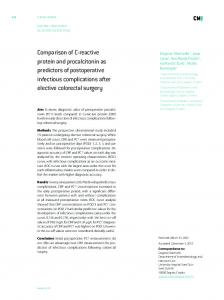 Comparison of C-reactive protein and procalcitonin as predictors of ...